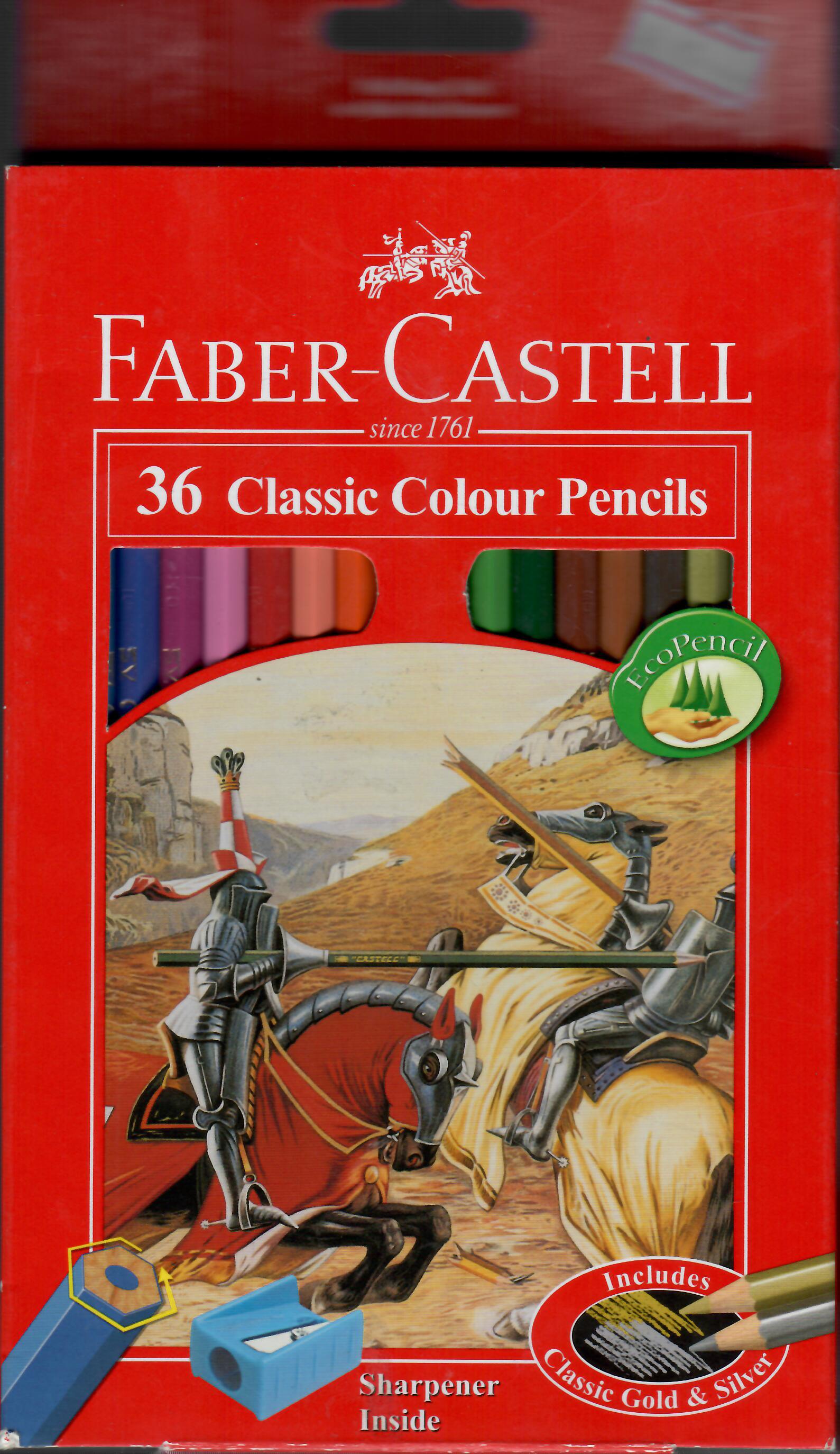 مداد رنگي 36 رنگ فابرکاستل(جعبه اي)